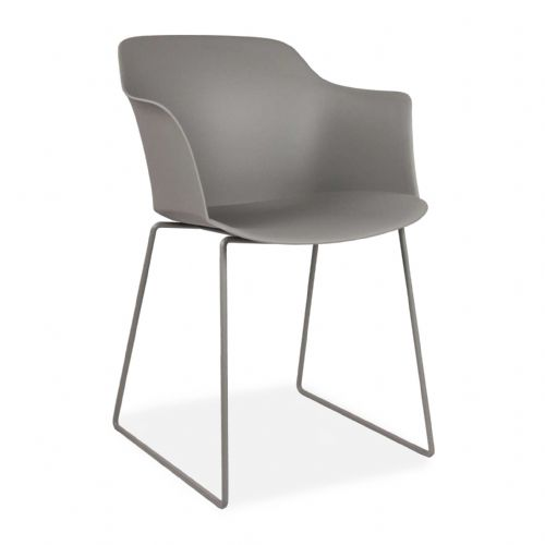x4 Cosmo Plastic Dining Chairs, Grey